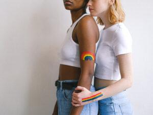LGBTQ interracial couple hugging   Anxiety in LGBTQ people