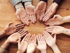 Single Moms hands circle   New Connections Counseling Center, Baltimore MD